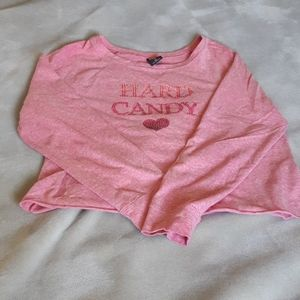 🆕️ hard candy crop top with bling🆓️💗